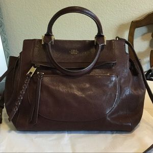 Vince Camuto Leather Satchel with Long Strap